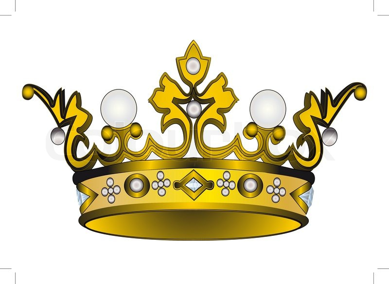 800x584 Illustration Gold(En) Royal Crown Insulated On White Background
