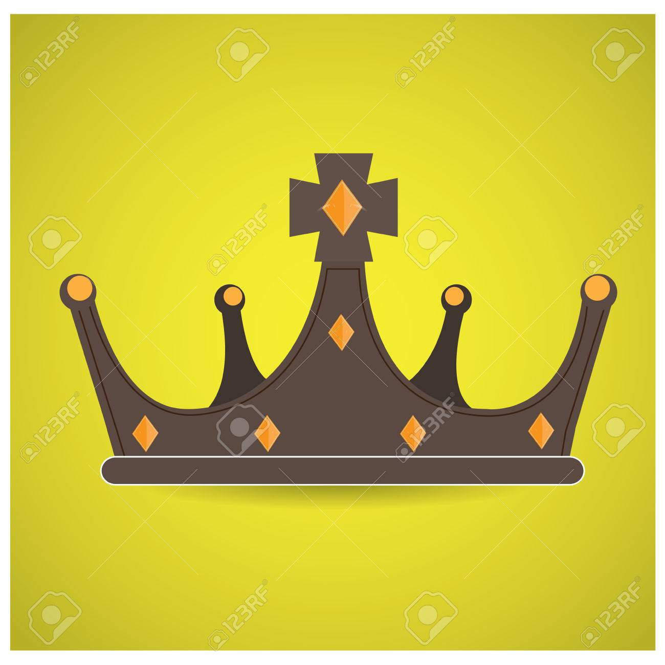 1300x1300 Isolated Royal Crown On A Yellow Background Royalty Free Cliparts