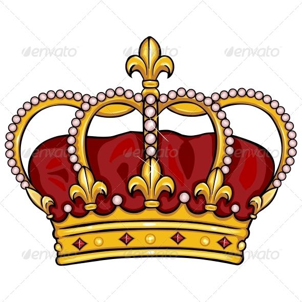 590x590 Cartoon Royal Crown By Nikiteev Graphicriver