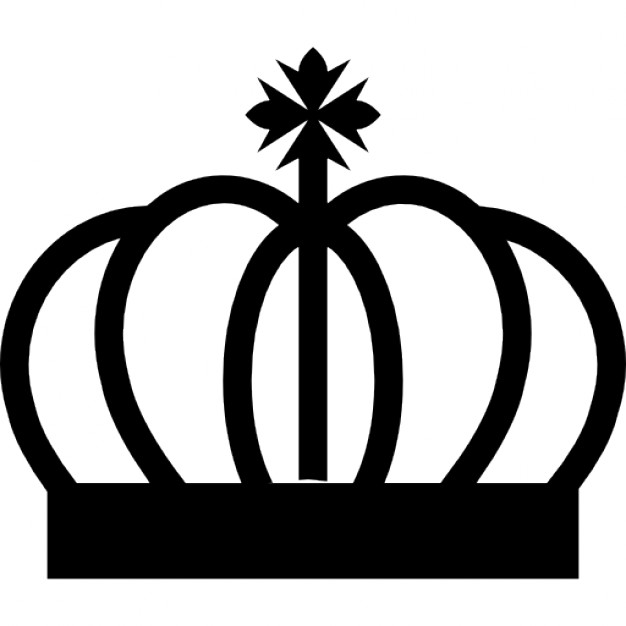 626x626 Royal Crown Curved Lines With Cross Symbol Icons Free Download