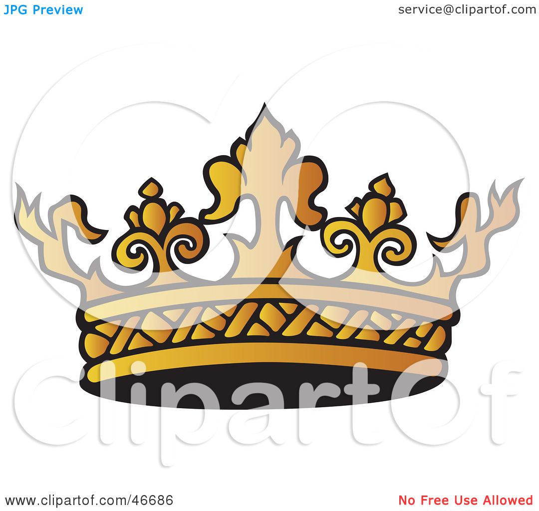 1080x1024 Gold Royal Crown Clipart Clipart Illustration Of An Intricate Gold