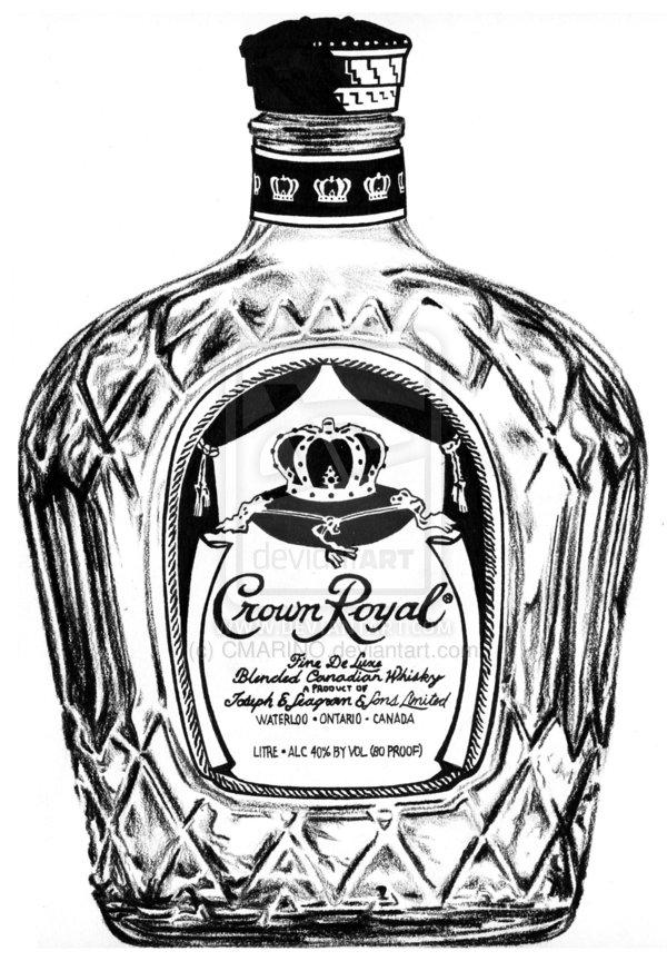 600x873 Crown Royal Clipart Drawn