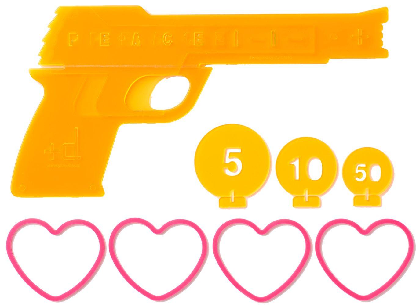 1362x1000 D H Concept Love Amp Peace Gun 4 Shot Semiauto Rubber Band Toy Gun