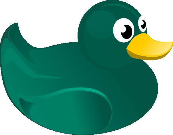 600x469 Green Rubber Duck Clip Art