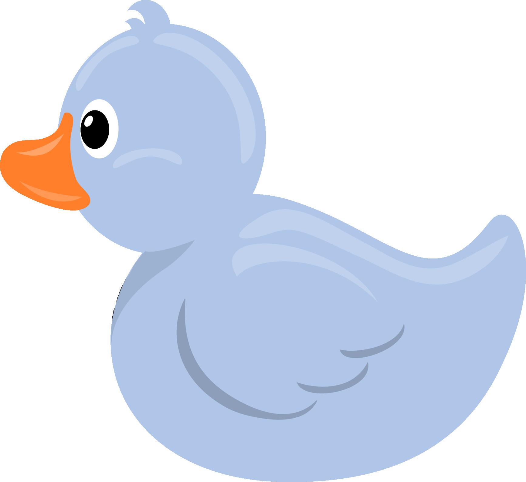 1733x1589 Blue Clipart Rubber Duck