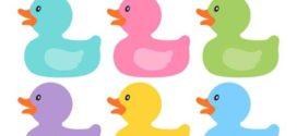 272x125 Rubber Duck Clip Art Ducky Duckie Baby Shower Yellow Baby Duck