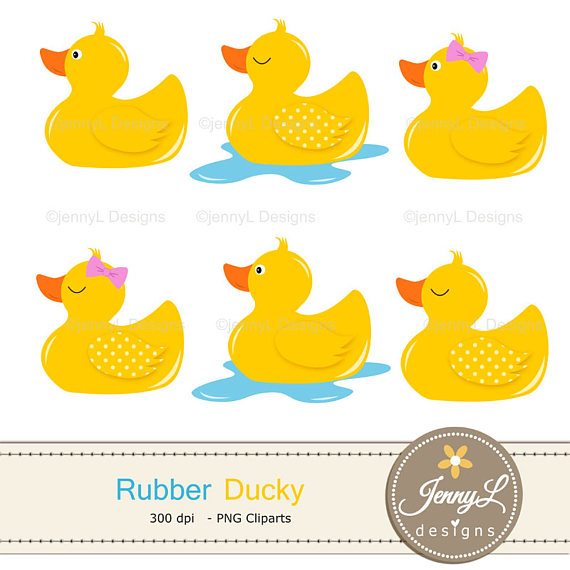 570x570 Rubber Duck Digital Papers And Clipart Set Rubber Ducky