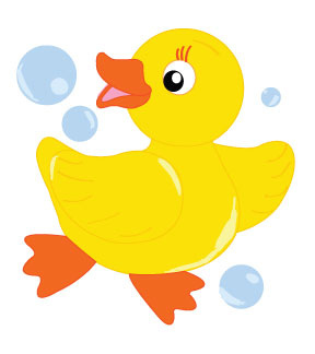 288x324 Rubber Ducky Border Clipart