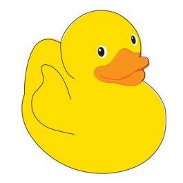 265x265 Yellow Rubber Duck Tattoo
