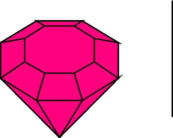 600x481 Pink Gem 1 Clip Art