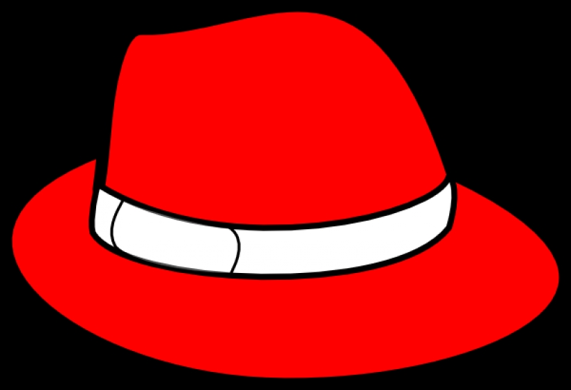 820x560 Clipart On Red Hat