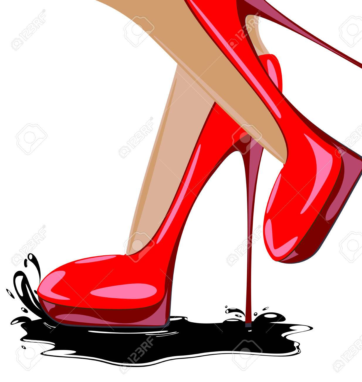 1234x1300 13,923 Red Shoes Stock Vector Illustration And Royalty Free Red