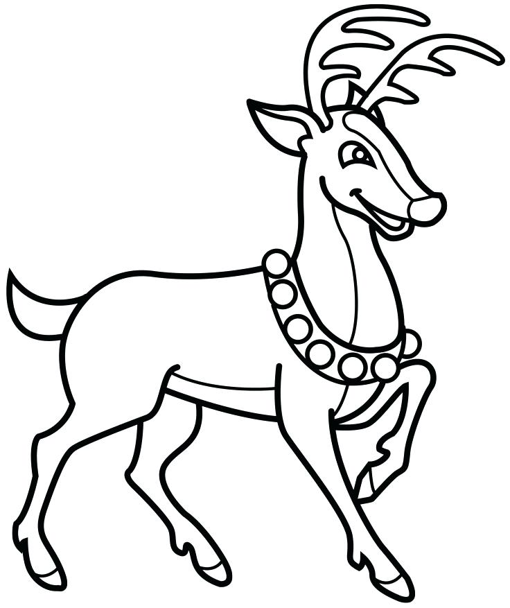 736x877 Coloring Pages Of Reindeer Reindeer And Snowman Coloring Pages