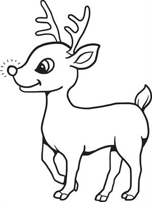 Rudolph Coloring Pages   Free download best Rudolph Coloring ...