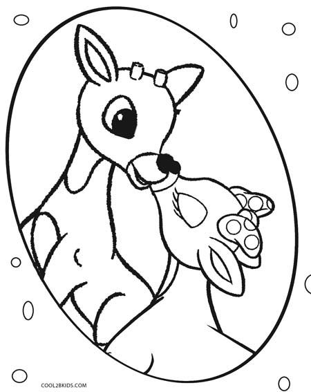 Rudolph Coloring Pages   Free download on ClipArtMag