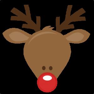 300x300 Cute Reindeer Head Svg Cutting Files For Scrapbooking Cute Cut