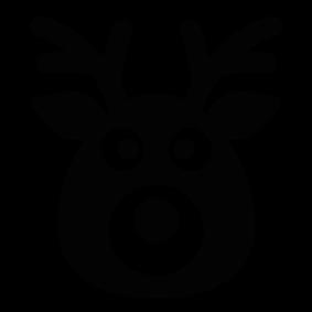 283x283 Head Silhouette Rudolph Clip Art Merry Christmas Amp Happy New