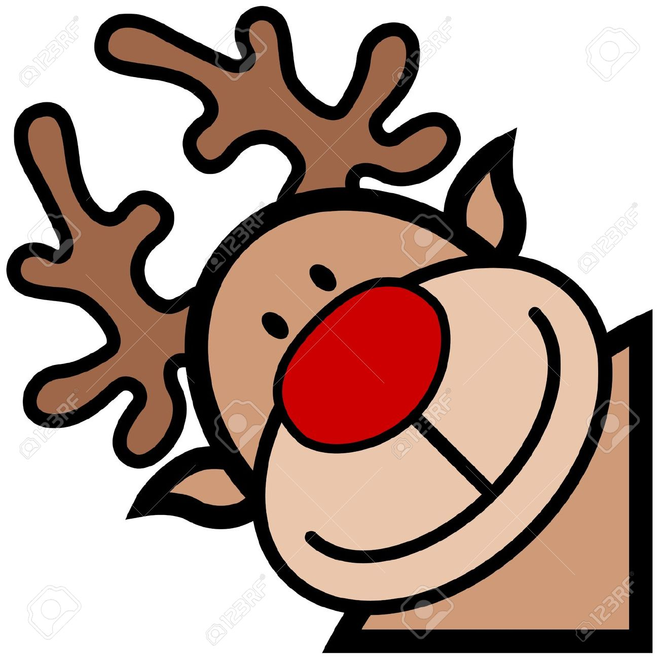 Rudolph Outline Cliparts | Free download on ClipArtMag