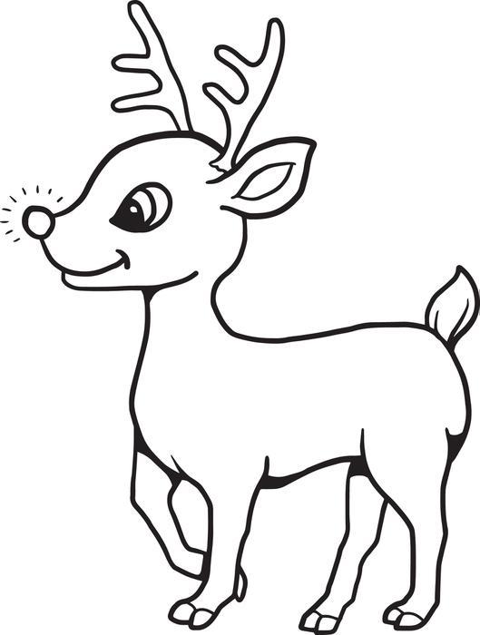 529x700 Reindeer Clipart Coloring