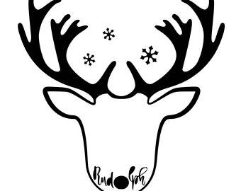 340x270 Reindeer Outline Etsy