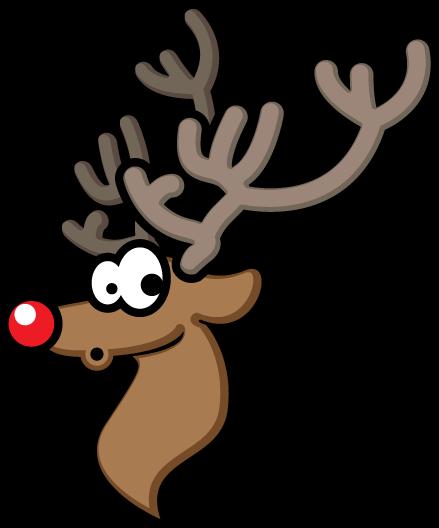 439x528 Rudolph Head Clipart