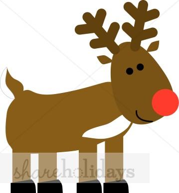 359x388 Rudolph Reindeer Clipart
