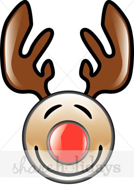 275x388 Shiny Rudolph Graphic Reindeer Clipart