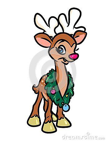 341x450 Best Rudolph Cartoon Ideas Cartoon Reindeer