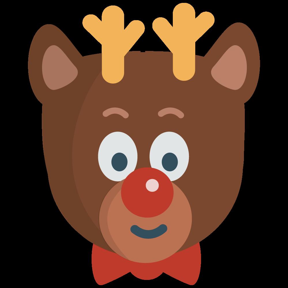 1000x1000 Christmas Clipart Reindeer Head