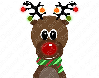 340x270 Clipart Of Rudolph The Red Nosed Reindeer
