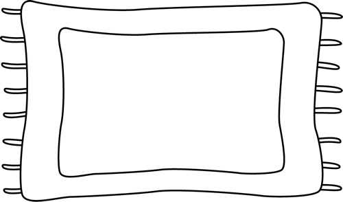 500x294 Black And White Rug Clip Art