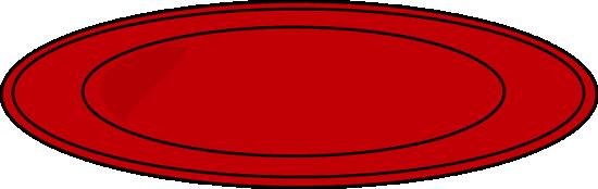 550x174 Red Dinner Plate Clip Art