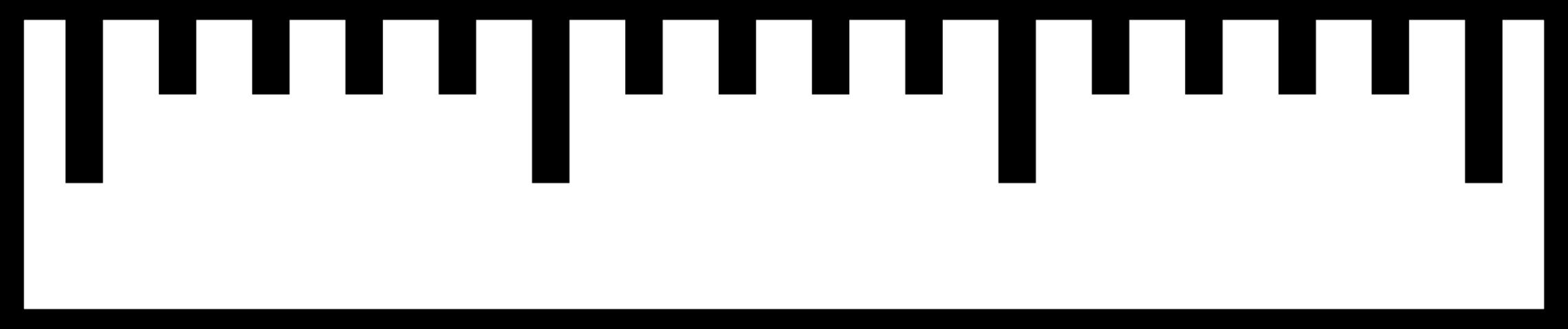2280x479 Free Centimeter Ruler Clipart