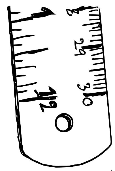406x600 Ruler Black White Clipart Clipart Panda