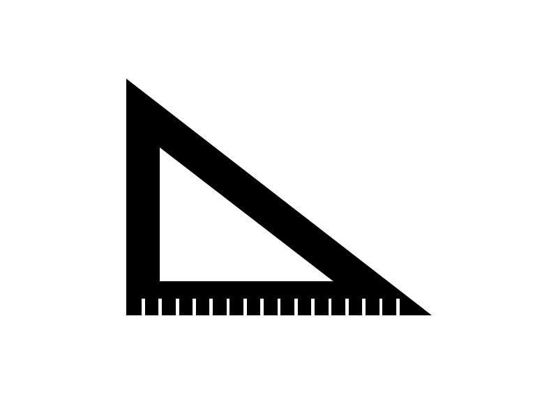 800x566 Black Vector Ruler Icon