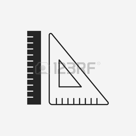 450x450 School Rulers Color Icon. Protractor, Transparent And Ruler