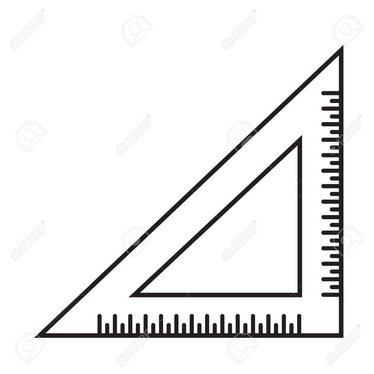 1300x1300 Triangle Clipart Triangle Ruler
