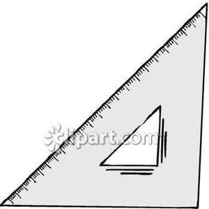 300x300 Grey Triangle Ruler Royalty Free Clipart Picture
