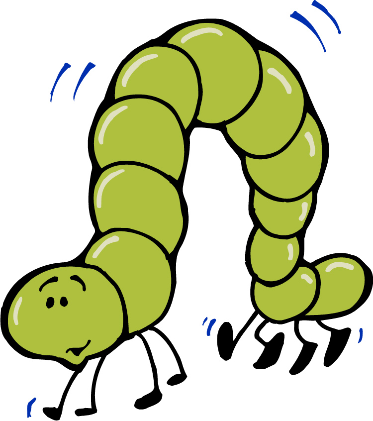 750x846 Inchworm clipart