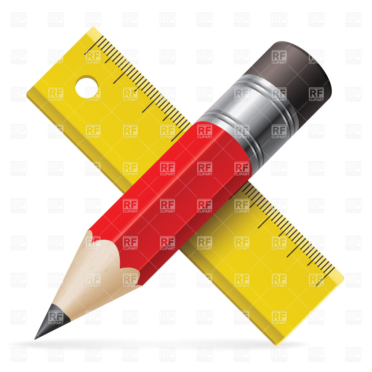 1200x1200 Pencil And Ruler Icon Royalty Free Vector Clip Art Image