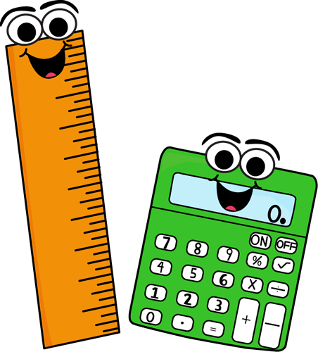 452x500 Ruler And Calculator Clip Art