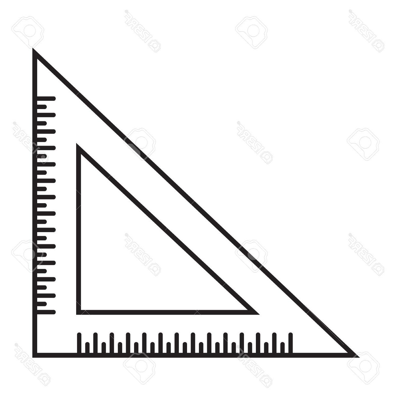 1300x1300 Top Triangle Clipart Ruler Images