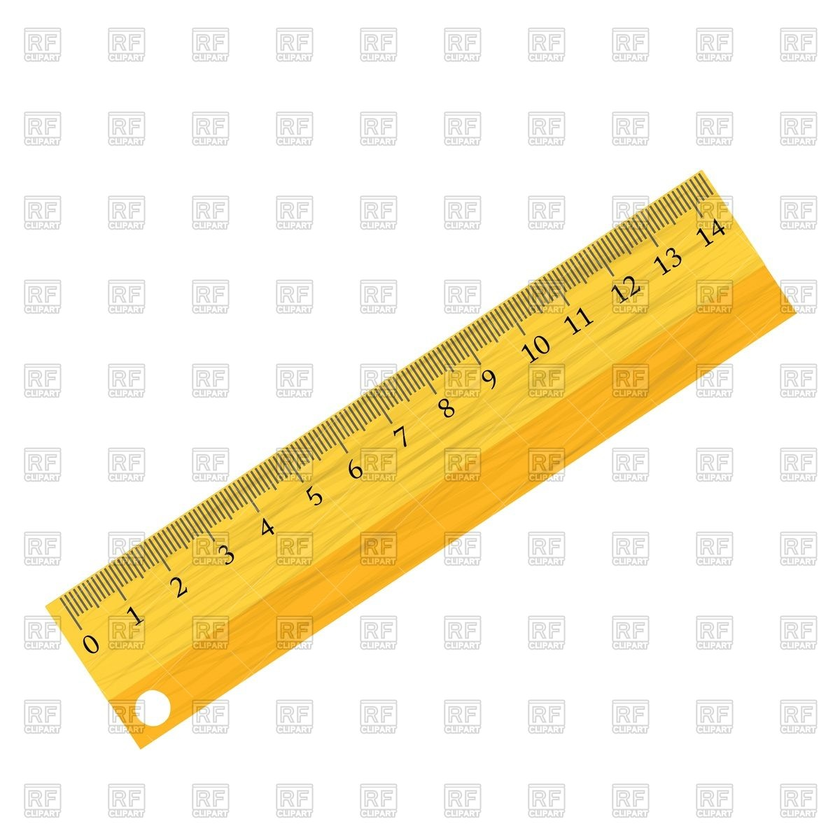 1200x1200 Wooden School Ruler On White Royalty Free Vector Clip Art Image