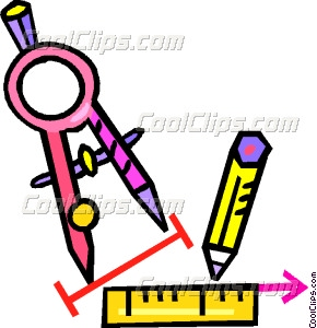 290x300 Compass With Ruler And Pencil Vector Clip Art