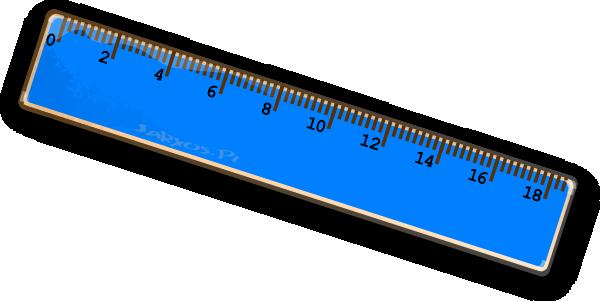 600x301 Blue Ruler Clip Art