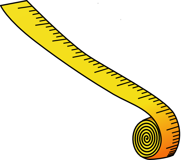 600x522 Measuring Tape Black And White Clipart