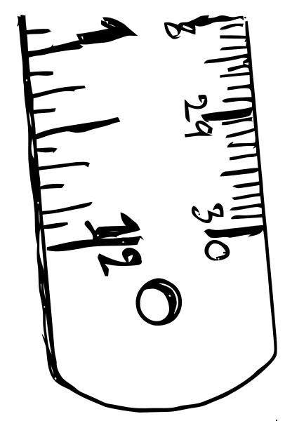 406x600 Ruler Black White Png Clip Arts For Web