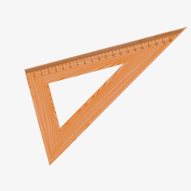 650x651 Yellow Wooden Triangle Ruler, Yellow, Wood, Triangle Png
