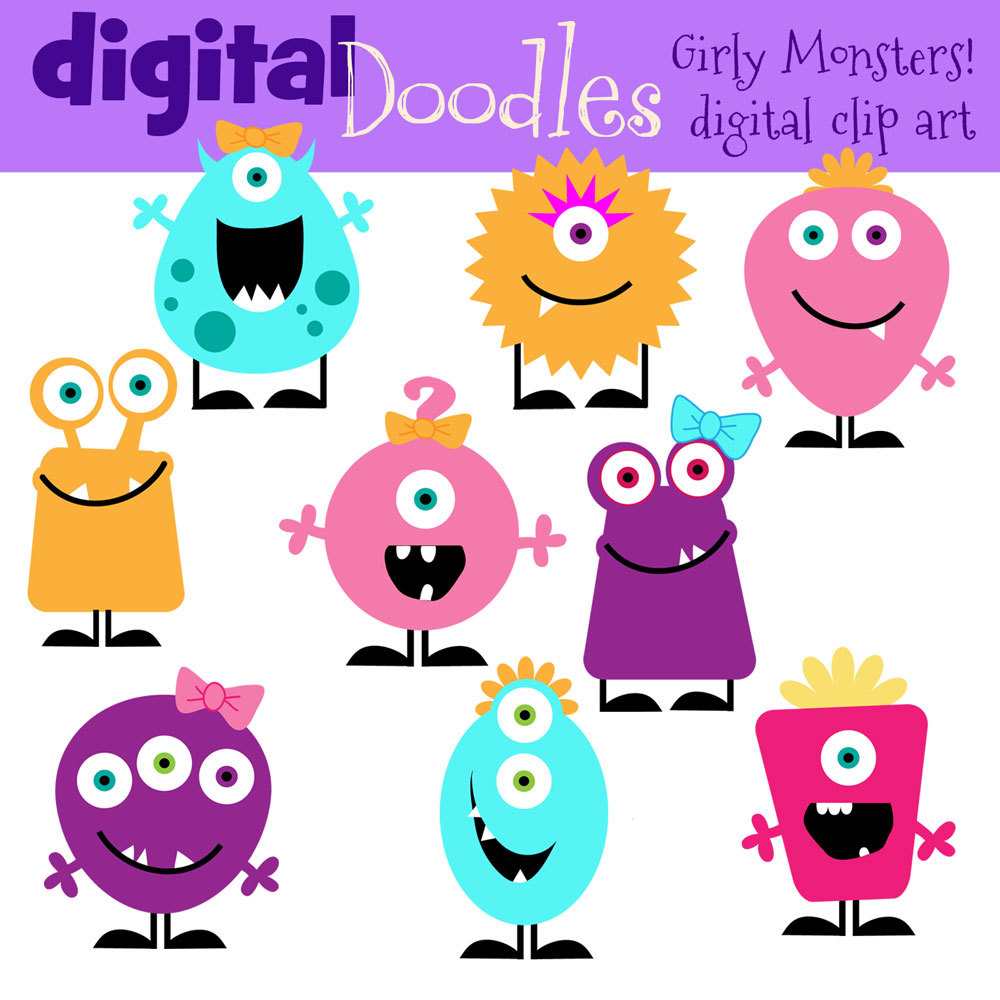 1000x1000 Free Monster Clipart