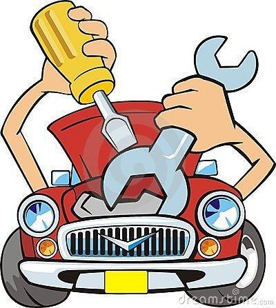 400x447 Auto Garage Clip Art